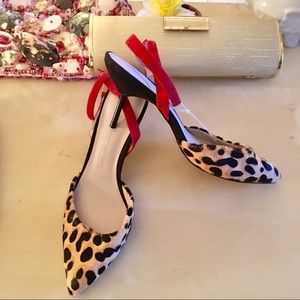 Zara - TRENDING- Leopard Calf Hair Pencil Heels